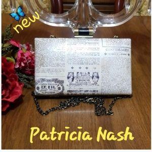 Patricia Nash Newspaper Print Clutch
